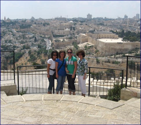 Girls at the Mount of Olives