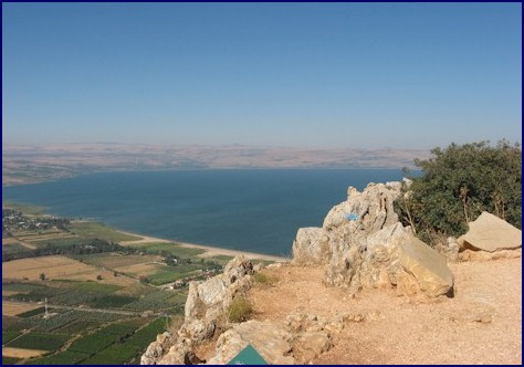 Atop Mount Arbel overlooking Sea of Galilee